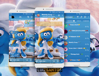 Smurf Theme For GBWhatsApp By Luiz Santos