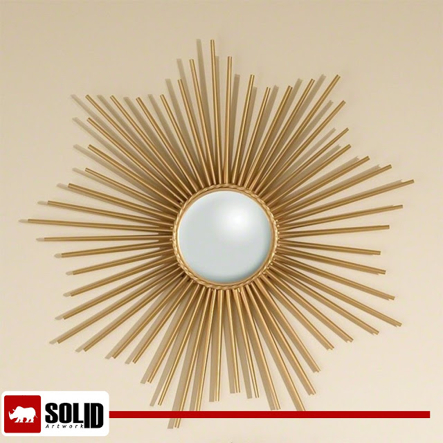 Mini Sunburst Mirror Gold