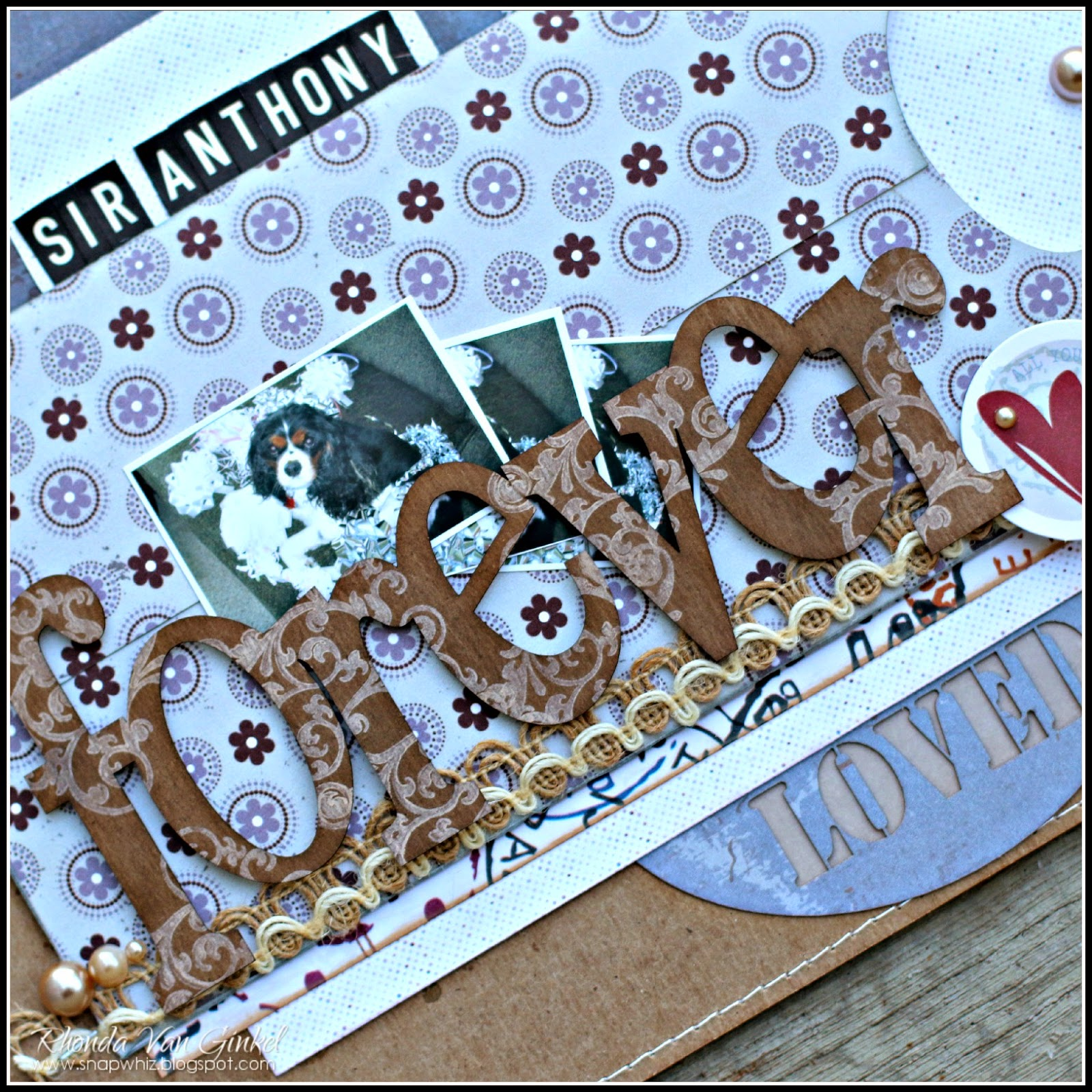 Forever Loved Scrapbook Page for Quick Quotes featuring February Club Q by Rhonda Van Ginkel