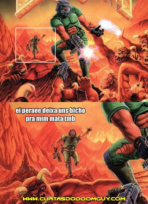 Detalhe na capa do Doom clássico