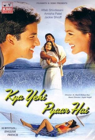 Poster Of Kya Yehi Pyaar Hai 2002 Hindi 450MB DVDRip 480p Free Download Watch Online