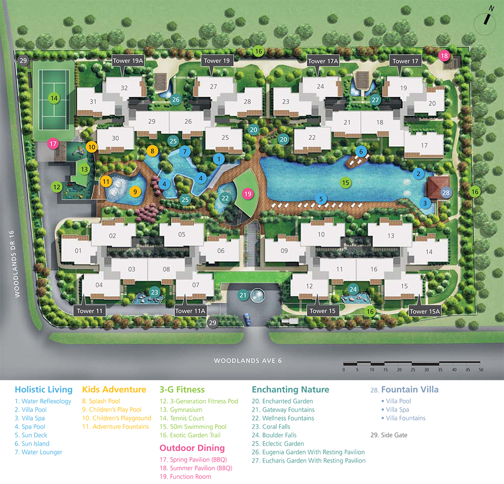 Twin Fountains Site Plan