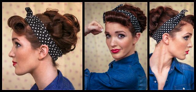 Terrific The Freckled Fox Sweetheart Hair Week Tutorial 3 Rockabilly Rosie Hairstyles For Men Maxibearus