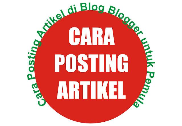Gambar Posting Artikel di Blogger