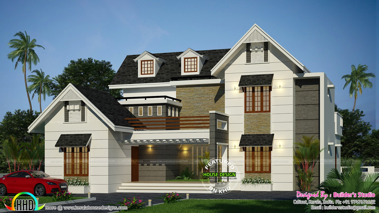 Modern dormer window home architecture kerala home for Dormer house plans designs