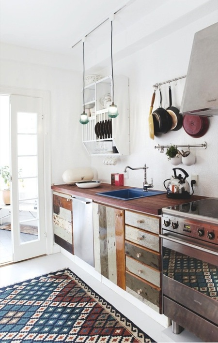 best home furniture design: Recycled Timber Kitchen Counter ...