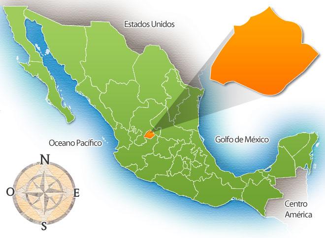 Estado e Ciudad de Aguascalientes - México