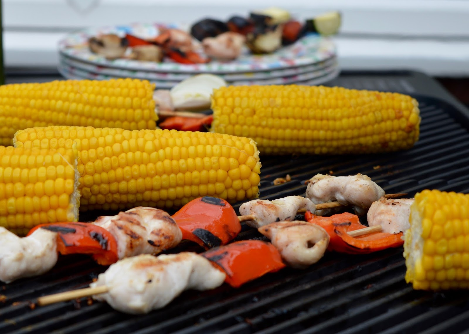 Win an Everdure by Heston FORCE Barbeque worth £599 from Kettler with  #TheBestofTimes  - corn and chicken on BBQ