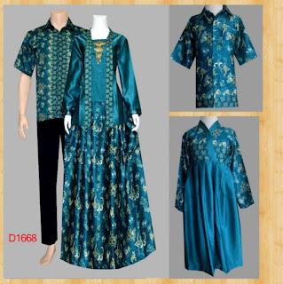 model baju batik couple gamis untuk wisuda