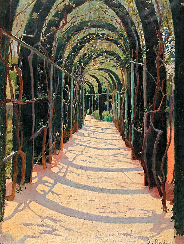 Santiago Rusiñol Paseo de pámpanos, Granada. 1898 Jardines de España