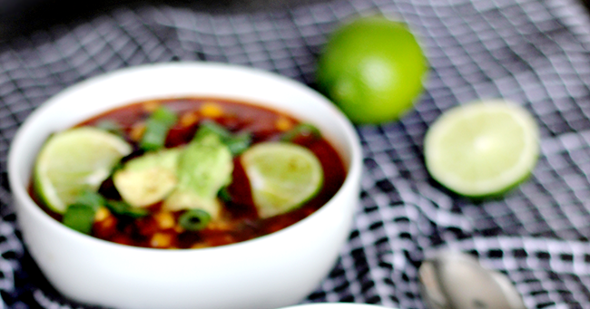 Bubby and Bean ::: Living Creatively: Vegan Black Bean and Salsa Soup