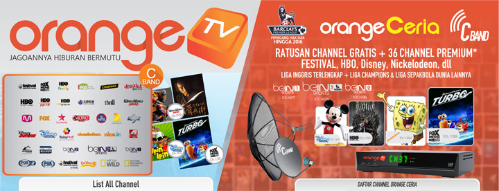 channel orange tv indonesia c band