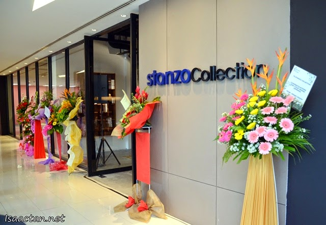 Beautiful flowers from friends and corporations congratulating Stanzo Collection for their laaunch