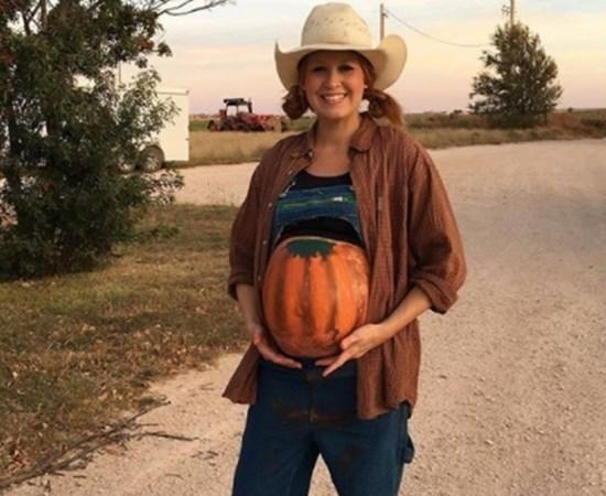 Fantasias Halloween - Grávida barriga de abóbora