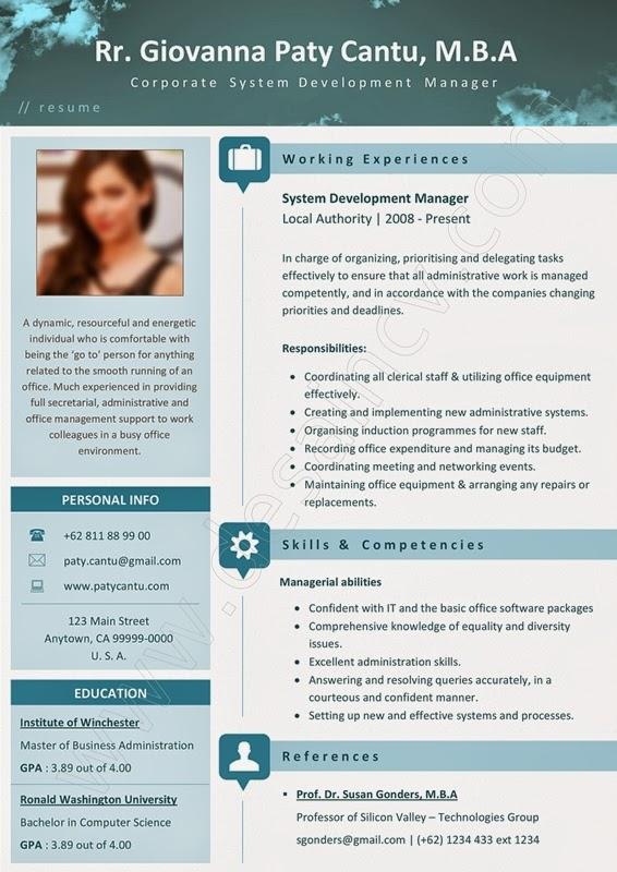 Professional contoh curriculum vitae resume template