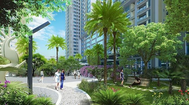 Không gian xanh mát tại dự án FLC Star Tower