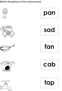 Free phonics worksheet