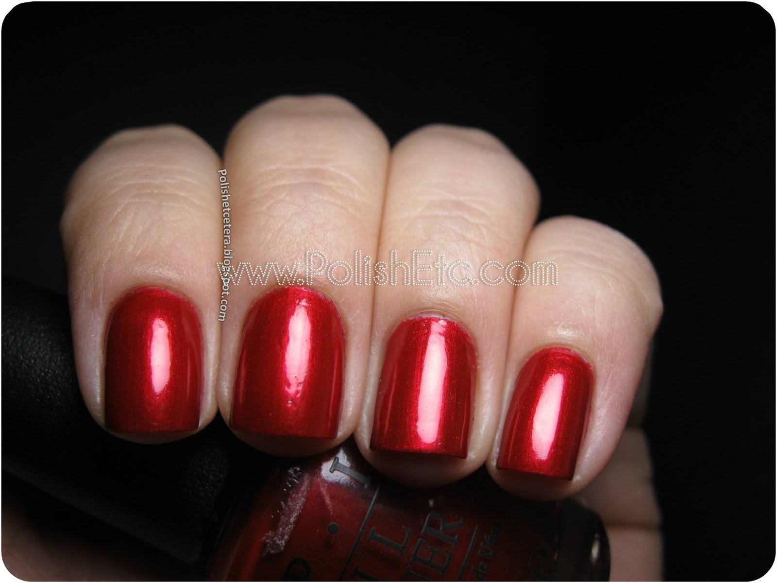 OPI Danke Shiny Red and a Comparison - Polish Etc.