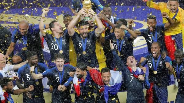 FÚTBOL -  Mundial masculino 2018: Francia supera a Croacia en la final y conquista su segundo mundial