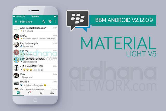 BBM Material Light V5 - BBM Android V2.12.0.9