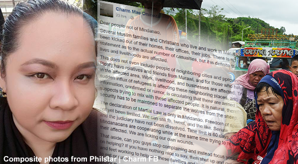 Mindanaoan teacher gives a strong message to all people of Luzon and Visayas