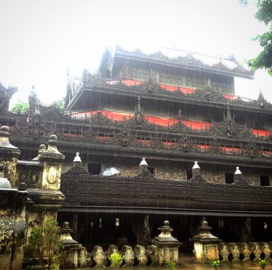 teak wood monastery, Burma