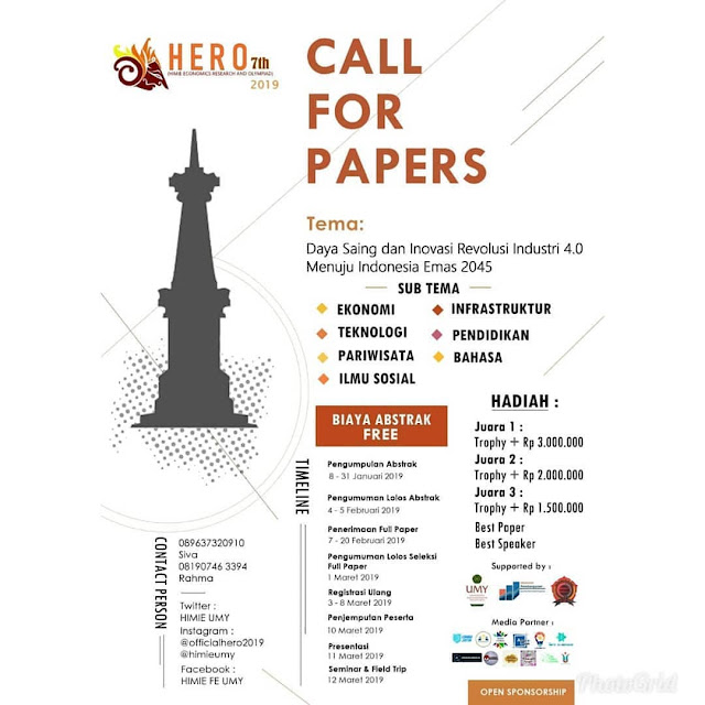 Lomba Call For Papers Nasional Hero 7th 2019 Mahasiswa