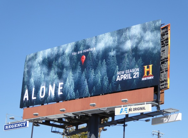 Alone season 2 You are nowhere billboard