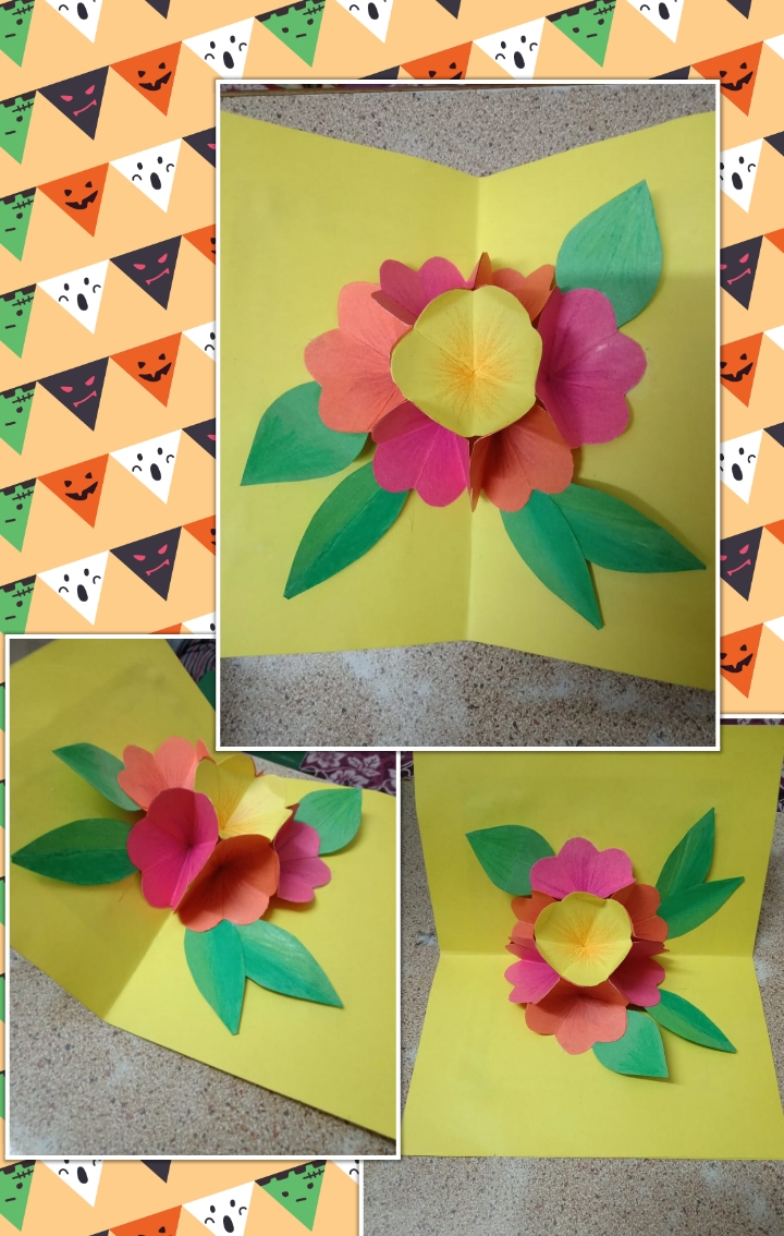 Creation corner everyone specially girls like to make such a creative card 3d flower popup card is so easy to make you can use it on many events mightylinksfo