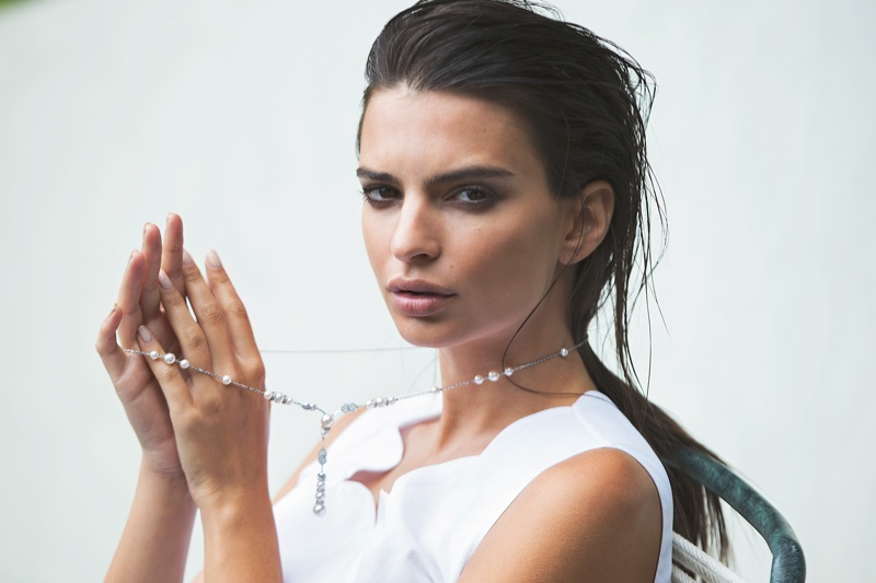 Emily Ratajkowski goes glamorous for Evening Standard Magazine