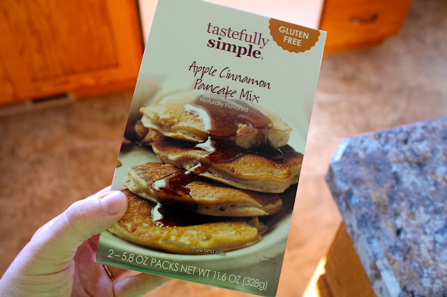 gluten free apple pancake dippers with sweet cider syrup