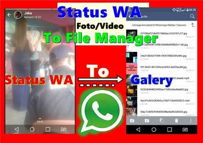 Cara Menyimpan Video Dan Foto Dari Status Whatsapp Langsung Ke Galeri Kaskus