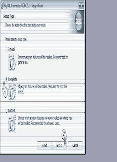 "<img src=""https://4.bp.blogspot.com/-9_9SkCaMSoY/XJ32FTBt1EI/AAAAAAAAAj8/4GCLlmoFkhYhTxURy7upS3226dPCreeagCLcBGAs/s320/setup-type-select-complete-aplikasi-sia-bumdes-instalasi-min.png"" alt=""aplikasi SIA BUMDes, instalasi MySQL Connector ODBC, complete to next""/>"