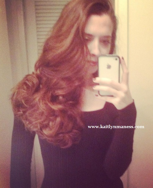 sock bun curls, long hair, heatless curls, Kaitlyn Maness