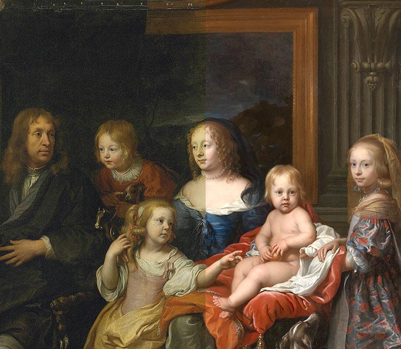 El como un museo restaura una hermosa pintura de hace cientos de años