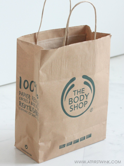 the Body Shop paper bag