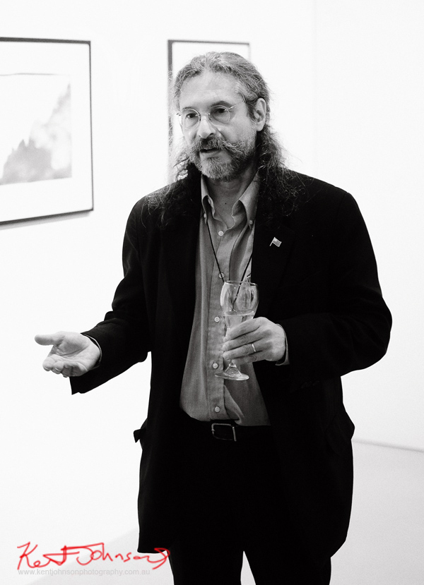 Portrait of Roberto Fernández-Ibáñez  'Mountains of Uncertainty' at Stanley Street Gallery, Headon Photo Festival, April 28, 2016  Montevideo, Uruguay