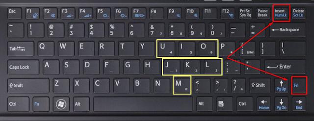 Gambar Solusi penyelesaian Error keyboard huruf jadi angka
