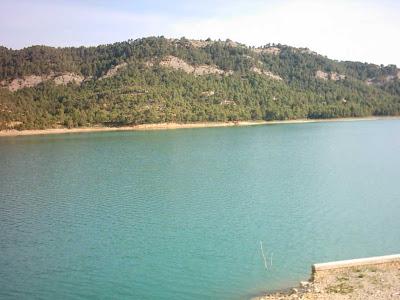 Pantano ,embalse, Pena ,Beceite ,frontera ,Valderrobres, vista 2