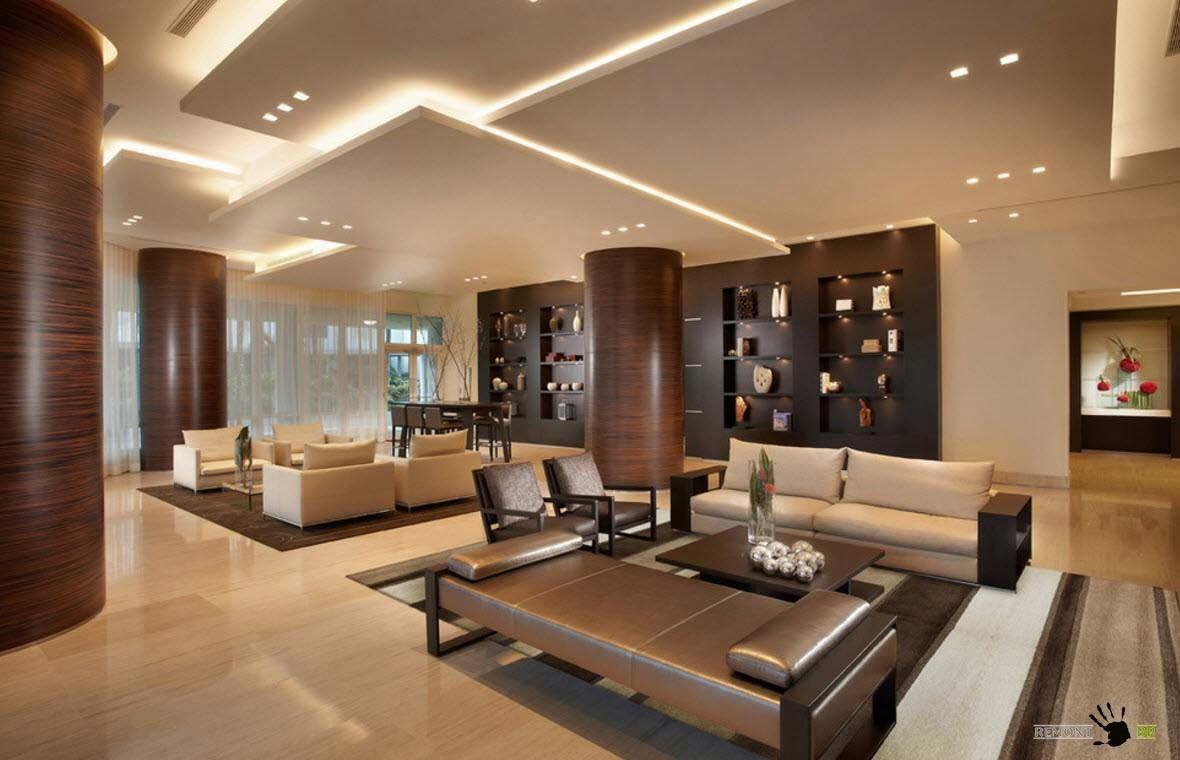 Cool modern false ceiling designs for living room 2018 for Cool ceiling designs