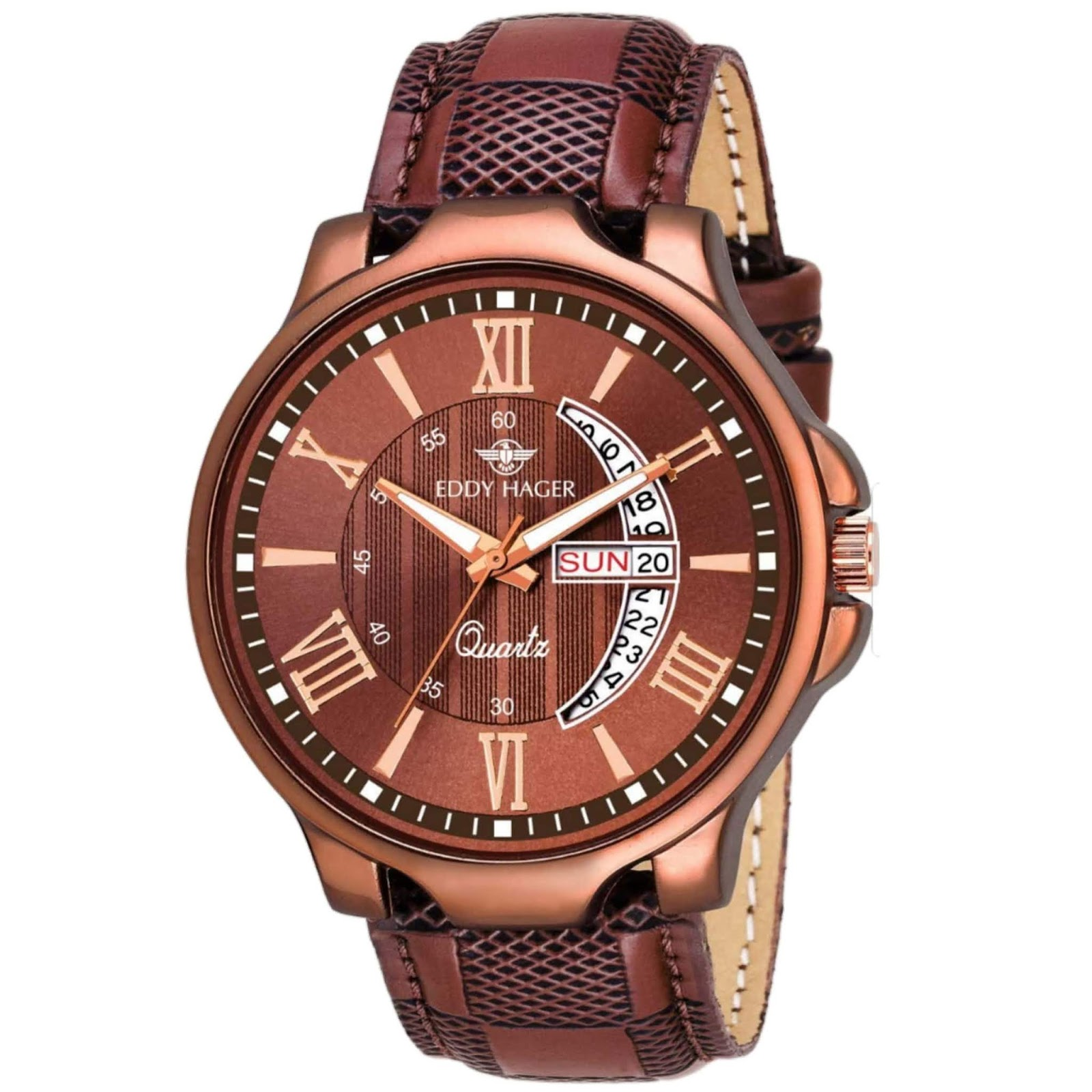 Eddy Hager Brown EH-153-BR (Best Mens Watches Under ₹500)