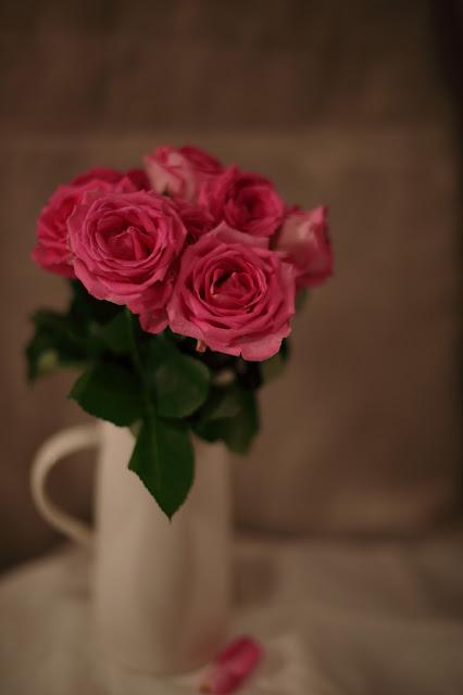 kukkailottelua, pinki ruusu