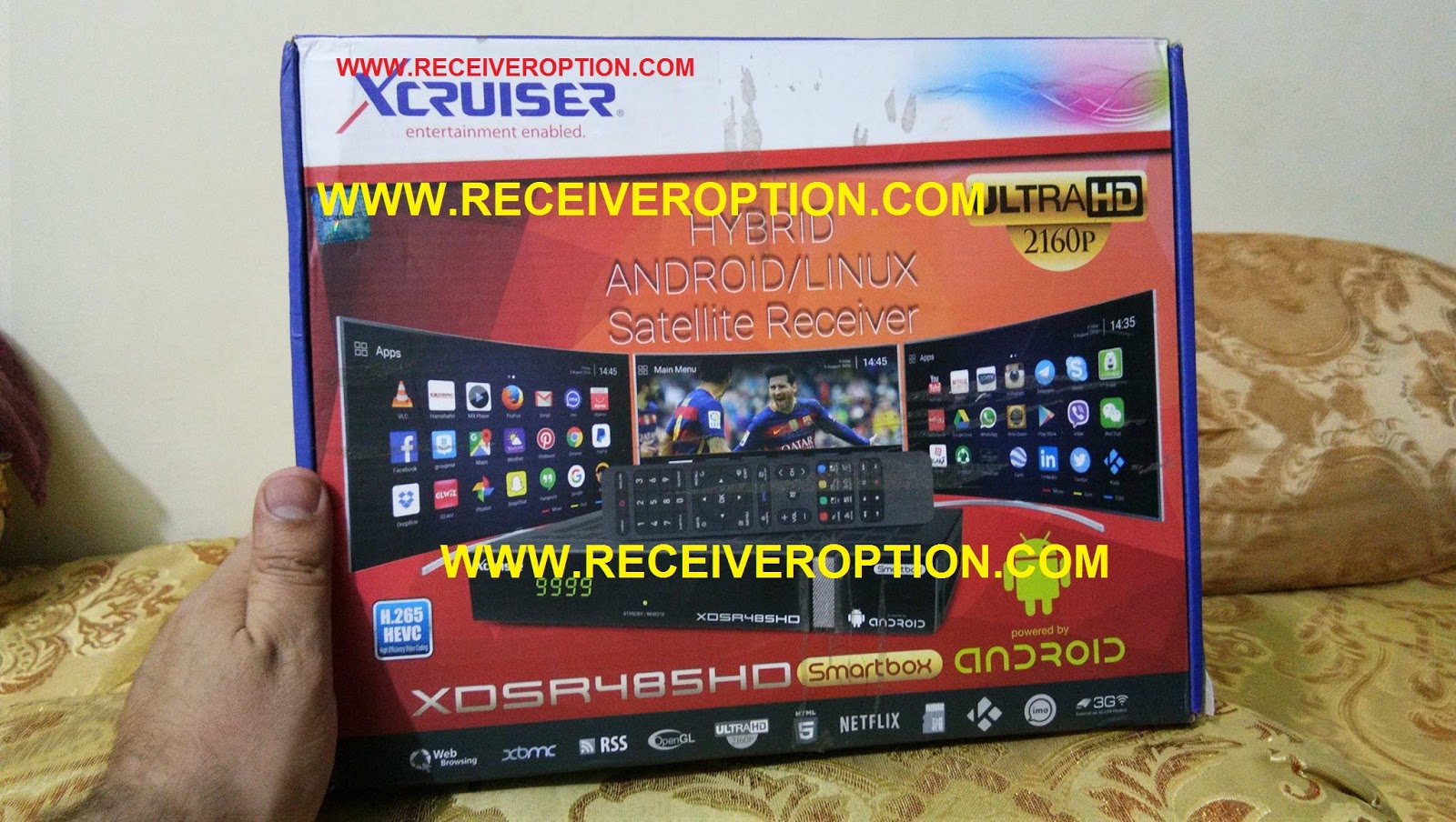 XCRUISER XDSR485HD SMARTBOX ANDROID RECEIVER CCCAM OPTION - HOW TO