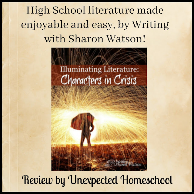 Review of Illuminating Literature: Characters in Crisis. A high school literature program from Writing with Sharon Watson