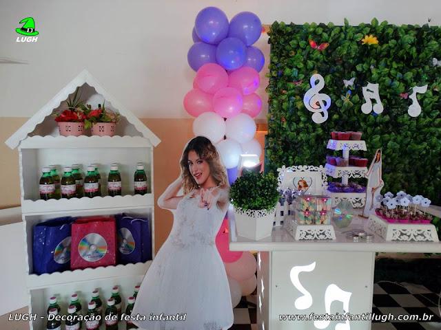 Decoração provençal Violleta com muro inglês - Festa de aniversário infantil