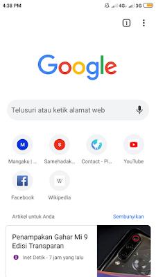 Menambahkan Ikon di Chrome