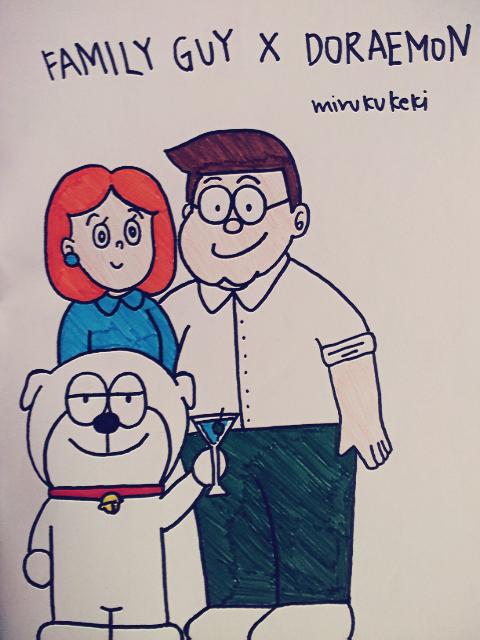 Mirukukeki: CROSS OVER #2: Family Guy X Doraemon