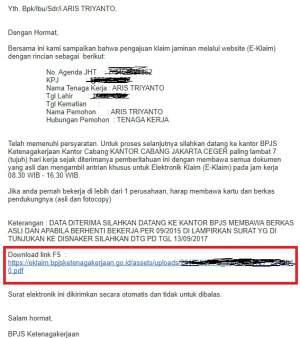 email balasan persetujuan e-klaim BPJS