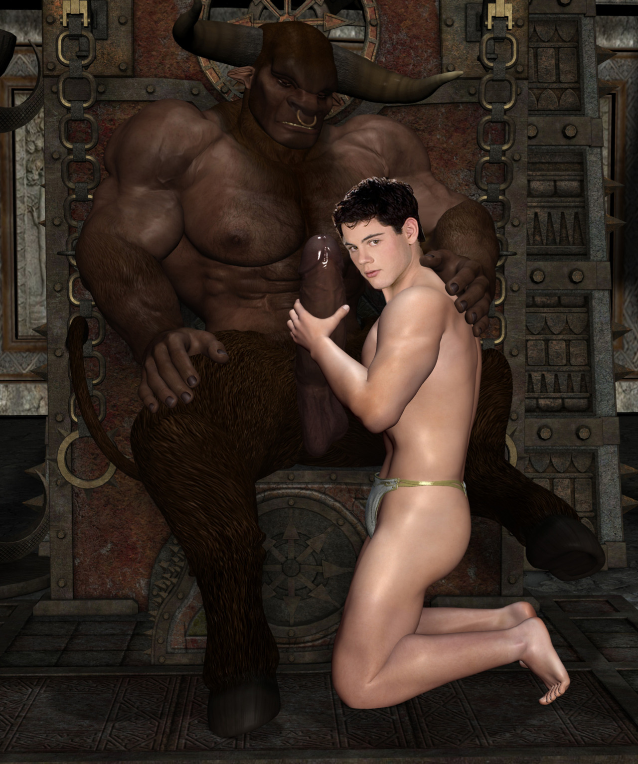 3d gladiator hunk sucks cock and gets fucked hard in the ass 5