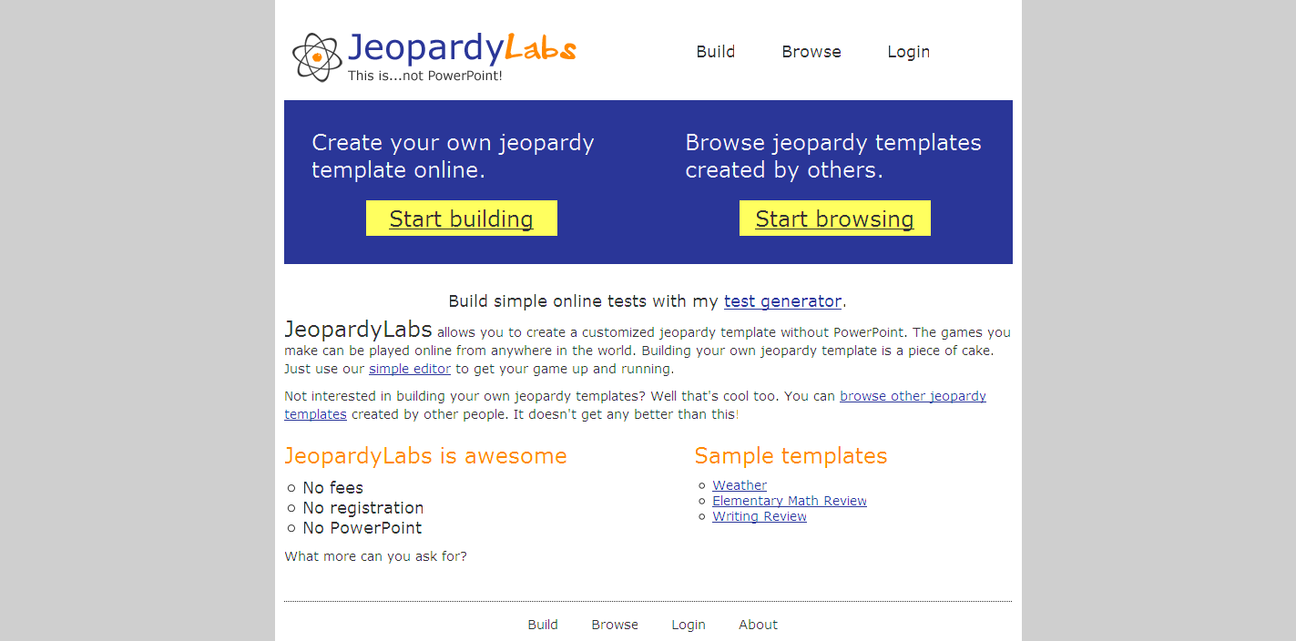 Jeopardy Labs - Create Jeopardy Style Review Games that students can